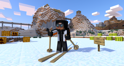 Minecraft Skiing by LockRikard