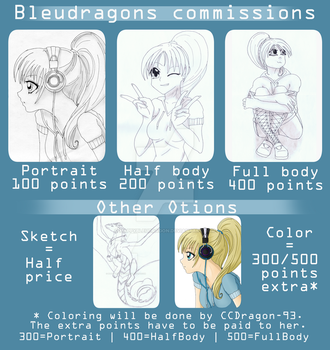 Open for commissions! by HappyBleuDragon
