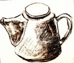 Tea Pot Sketch and Render   ^_____^ by theloverofTMI