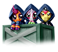 Box of Cutie Mark Crusader Rockstars by StormCrow-42