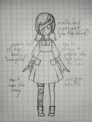 Sunshine Sketch Creepypasta OC by Lisa44412