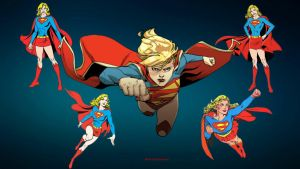 Supergirl Wallpaper Times 5 by Curtdawg53