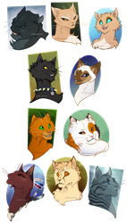 Bust CM: Colourful Cats by animon