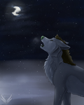 Quiet Like The Snow - Redraw and Speedpaint by OkamiWhitewings