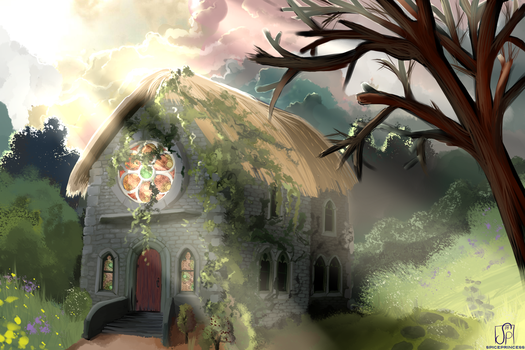 The Elven Prayer House by SpicePrincess