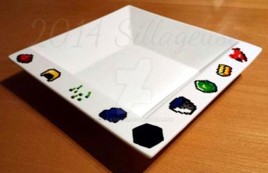 Minecraft items (painting on plate) by Sillageuse