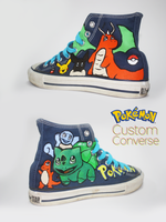 Pokemon Custom Chuck Taylors by Harpo-exe