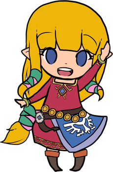 WIP - Chibi SS Zelda by juanito316ss