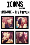 Icons: 4minute  - Its Poppin by mayradias