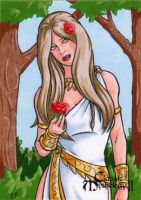 Forest Nymph Sketch Card - Classic Mythology II by ElainePerna