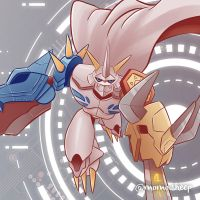 Omegamon - digimon by themomosheep