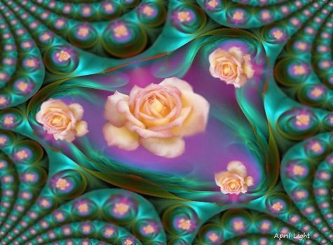 Rose Lagoon Fractal by AprilLight
