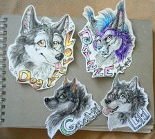 Badges: LD, JZ, Gaawii, Liki by Cally-Dream