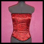 Red Leopard Corset Top by crafterbynite