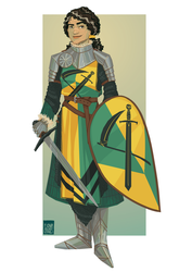 Lady Knight - Commission by FionaCreates