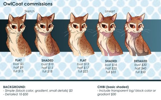 Commission Prices Guide by OwlCoat