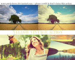 Yellow vintage action by puckrietveld