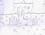 Inktober 2 - Tranquil by saturncoyote