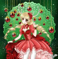 Marry X-Mas in traditionall red by Jenny-Liz