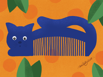 Retro Cat Comb by wildgica