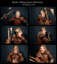 Stock : Viking faces by carlviking