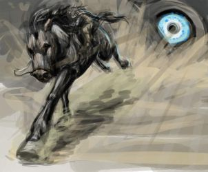 Colossus Chase speedpaint by moth-eatn