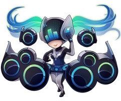 Chibi DJ Sona - Kinetic by RinTheYordle