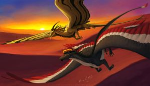 Over the desert - commission by Sythgara