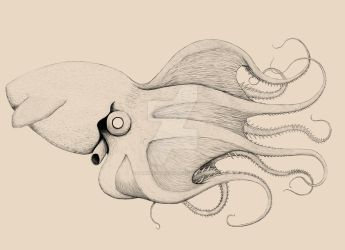Bestiary- Giant Vampire Squid by SarahFraggle