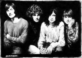 Led Zeppelin - Graphite and charcoal by janston