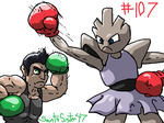 #107 Hitmonchan by SaintsSister47