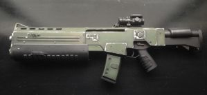 Doom Sarge rifle left side. by Matsucorp