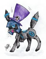 That Creepy Umbreon by CaptainWackywhiskers