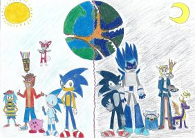 Sonic Crossover Unleashed by JPtherobothedgehog
