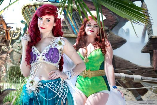 Ariel And Mera Bombshell Cosplay