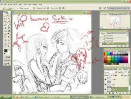 KH - WiP - because you're here by a-pikachu