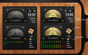 Sampletext Analog Meter for xwidget by Jimking