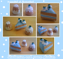 Blueberries and cream plushies by jesserikah