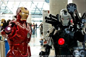 Iron Man and War Machine by dextructive