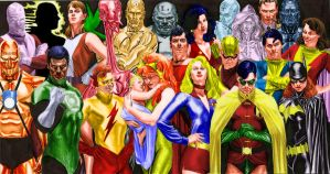 Alex Ross Justice unused Cover Colored by markdominic