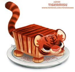 Daily Paint 2144. Tigermisu by Cryptid-Creations