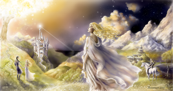 By the Light of Laurelin by annamare