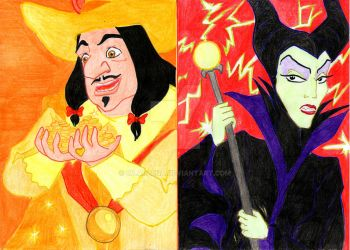 Pyramid of disney vices: greed and wrath by Wladlena