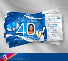 40th Birthday Invitation 2 by AnotherBcreation