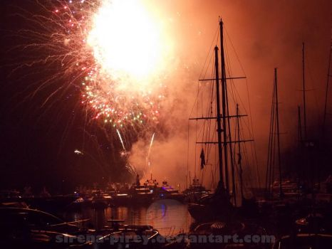 Firework over the port by sirena-pirey