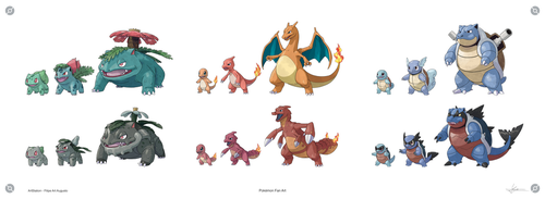 Pokemon - All Kanto Starters and Johto Forms Pack by F-B-S-Augusto