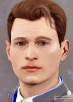 Bryan Dechart as Connor from Detroit: Become Human by sleepinglucifer