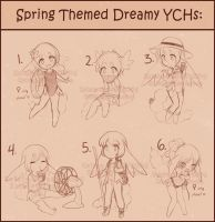 Spring Themed Dreamy YCHs! [CLOSED] by Spicemallow