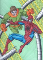 Spider-Man vs Doctor Octopus by RobertMacQuarrie1
