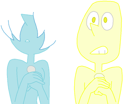Yellow Pearl and Blue Pearl Base 1 by Twisted-Bases